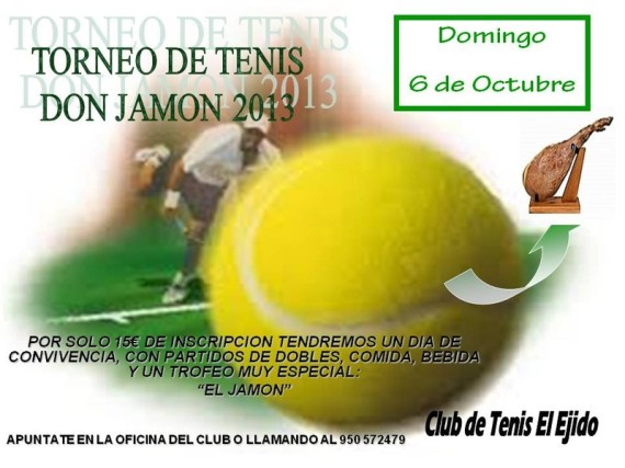 TORNEO DE TENIS DON JAMON 2013