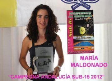 María Maldonado campeona de Andalucía SUB-15 EL EJIDO