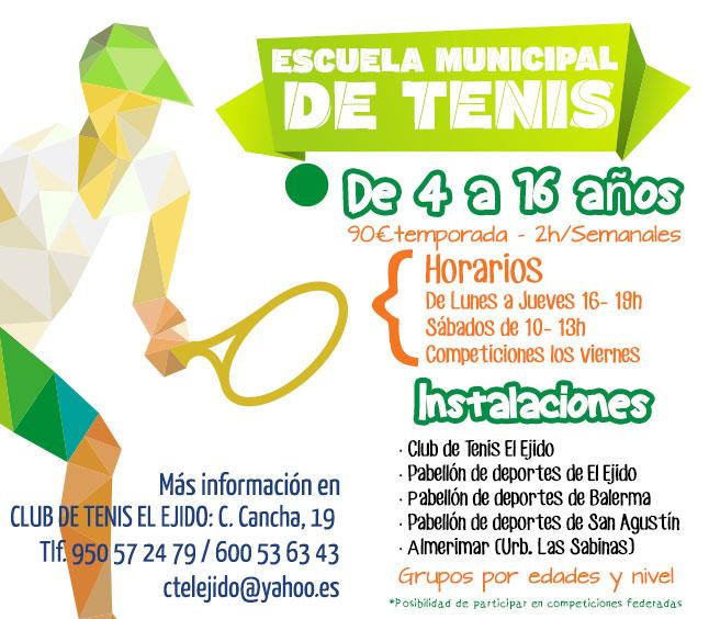 informacion escuela de tenis municipal el ejido